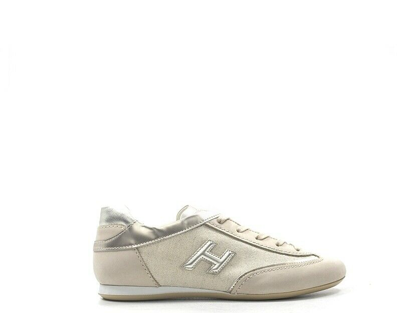 shoes HOGAN women Sneakers Trendy  BEIGE Pelle naturale,Tessuto W0520BH60KJR0QD
