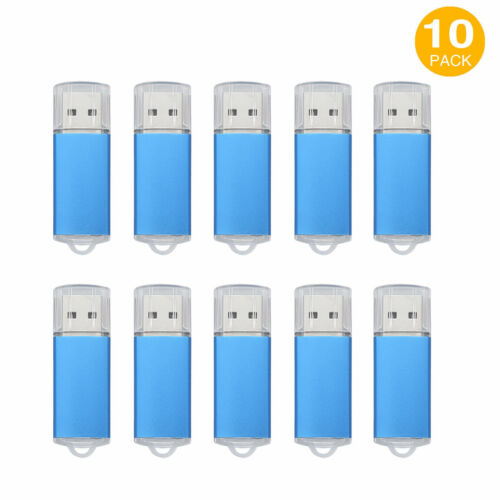10PCS 16GB USB 2.0 Flash Drives Rectangle Model Memory Sticks Thumb Pen Storage