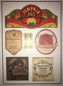 Details About Bottle Drink Label Stickers Harry Potter Gift Party Prop Diy Decorations Custom