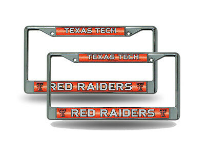 Texas Tech Red Raiders NCAA Rico Industries  Bling Chrome License Plate Frame with Glitter Accent