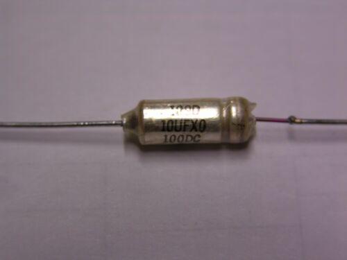 2 Sprague 109D 109D106X0100C2 10uF 100V 20/% Wet Tantalum Capacitors