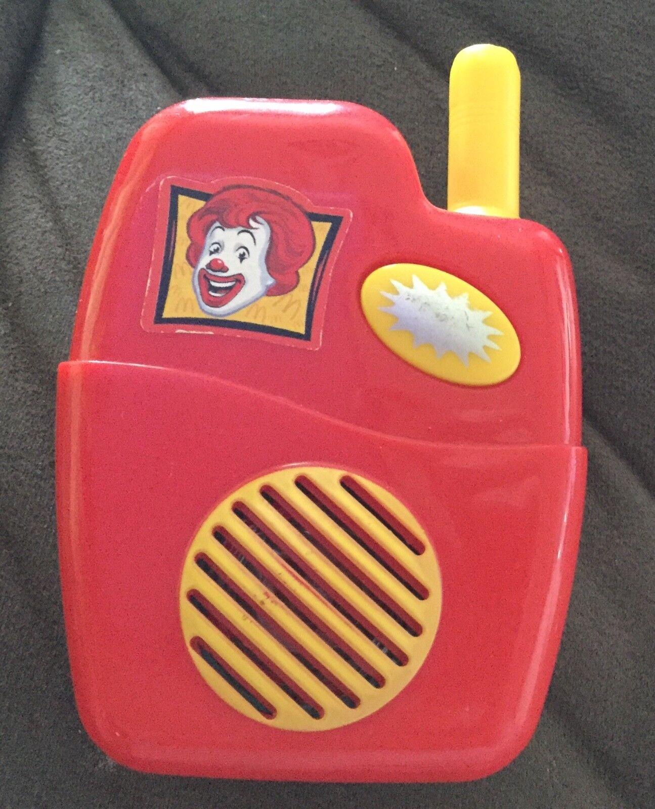 McDonald's Drive Thru Walkie Talkie Fake Play Toys WORKS GREAT  2004