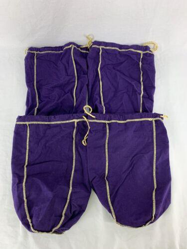 "Cropwn Royal Bags Purple Large 1.75 Size 12"" Lot Of 4 Crafts Repurpose"