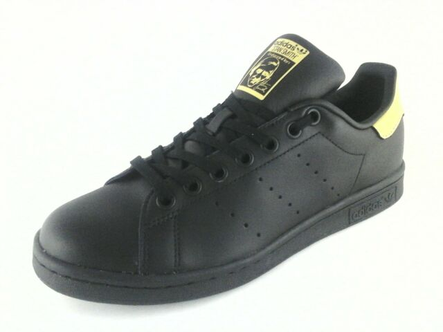 adidas Stan Smith Mens Bb0208 Classic SNEAKERS Shoes Black & Gold US 6.5 UK  6