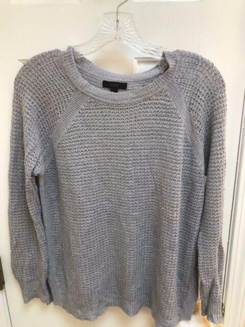 J Crew Sweater - Small Womens Steel Gray Light weight Linen Blend