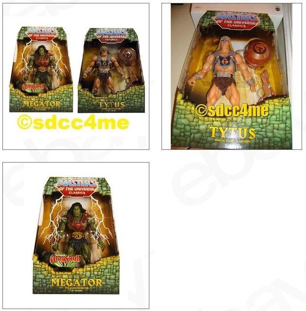 MOTU Classics MEGATOR & TYTUS New/Sealed MOC Giant Action Figures Set Lot He-Man
