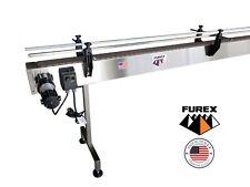 Furex Stainless Steel 10 X 4 Inline Conveyor With Plastic Table Top Belt