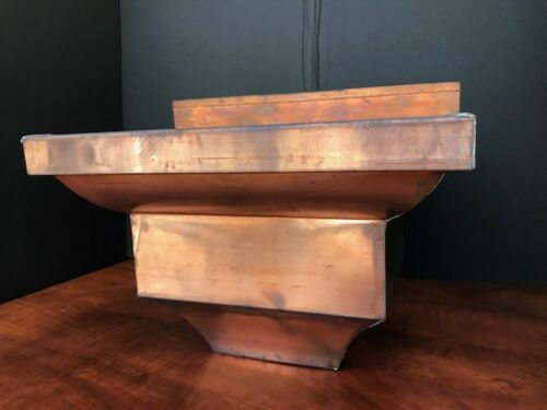 Gutter-Leader-head-Collector-Box-Down-spout-Scupper-Box-Copper-No  outlet
