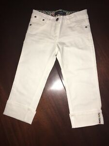 NEW-9-or-10-Mini-Boden-White-Fold-up-Crops-Capri-Pants