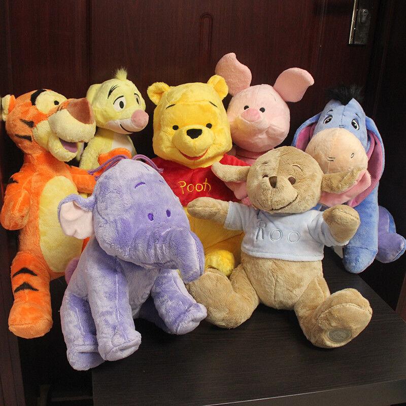 7pcs Winnie the Pooh Lumpy Roo Eeyore Piglet Tigger Rabbit Soft Plush Toy Doll