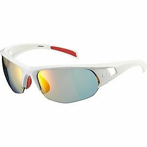 Madison Mission glasses gloss white frame Carl Zeiss Vision fire mirror lens glo