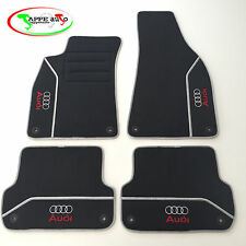 Audi A4 B6/B7  2001-2007 tappeti auto, tappetini velluto 4 ricami 8 autoblock