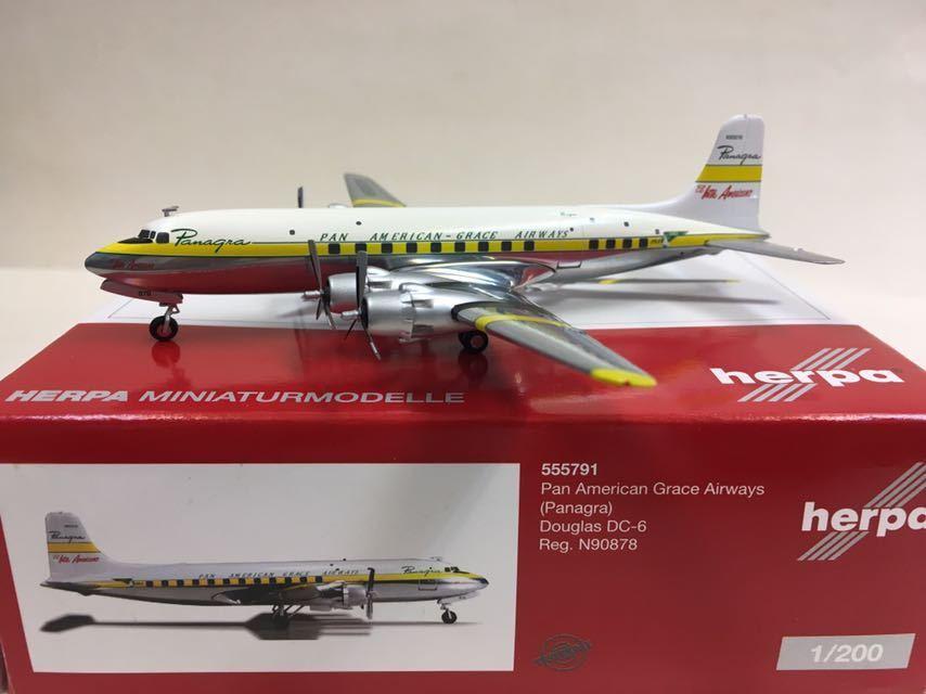 Herpa 1 200 Pan American Grace Airways (Panagra) Douglas DC-6 N90878 555791