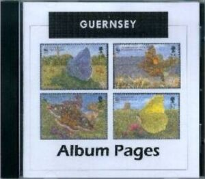 Guernsey - CD-Rom Stamp Album 1958-2017 Color Illustrated Album Pages