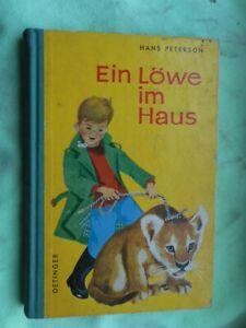 Hans Peterson: un león en casa 1961 Friedrich Oetinger libro infantil
