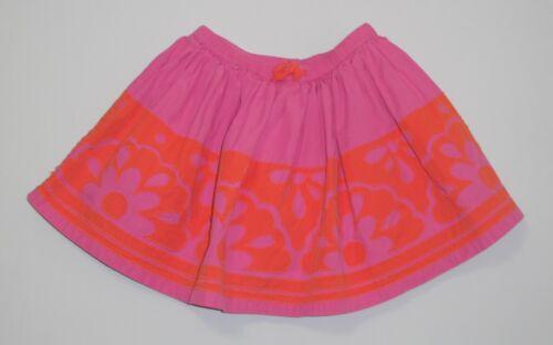 Details about  /Mini Boden Lined Floral Pink /& Orange Shirred Twirl Skirt 5-6y