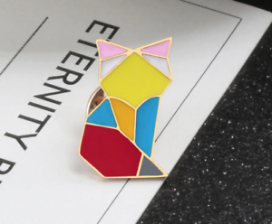4b711f965d9ae Details about Cat Brooch Pin Badge Origami Colourful Jewellery Gift Crazy  New UK Lady Kitty
