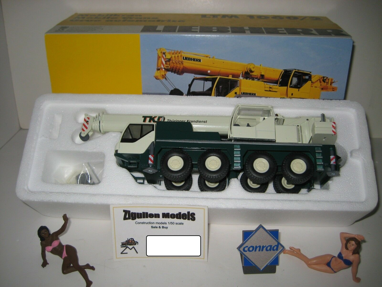 Liebherr LTM 1060-2 Autokran Thüringer krandienst  2094.12 CONRAD 1 50 NEUF dans sa boîte