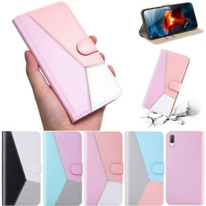 Splice-Colors-Wallet-Leather-Flip-Case-Cover-For-Sony-Xperia-XA1-L1-XA2-XZ3-L3