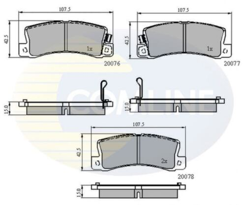 COMLINE REAR BRAKE PADS SET BRAKING PADS OE REPLACEMENT CBP3458