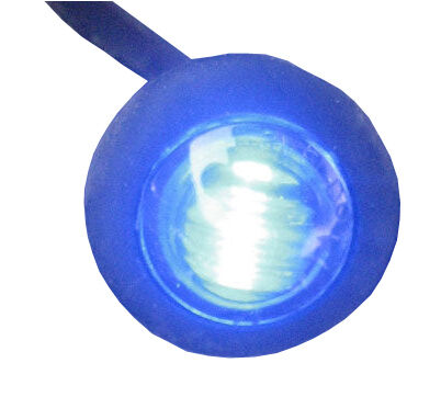 "10 x 12V//24V BLUE SMALL 1/"" ROUND LED BUTTON MARKER LAMPS//LIGHTS UNIVERSAL MARINE"