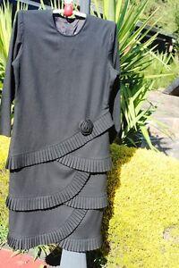 VINTAGE-BLACK-DRESS-BY-MARTI-SIZE-12