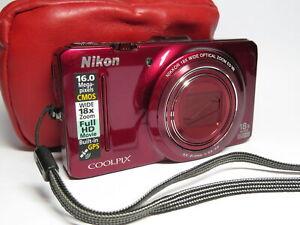 Nikon Coolpix S9300 18x Wide 16MP Full HD GPS Digital Compact Camera & 32GB SD
