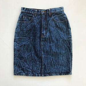 80s wrangler jean skirt1980s wrangler denim skirtvintage white washed denim skirt