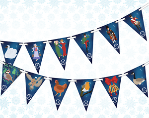 12-Days-of-Christmas-Bunting-Banner-12-flags-Christmas-Pictures-by-PARTY-DECOR