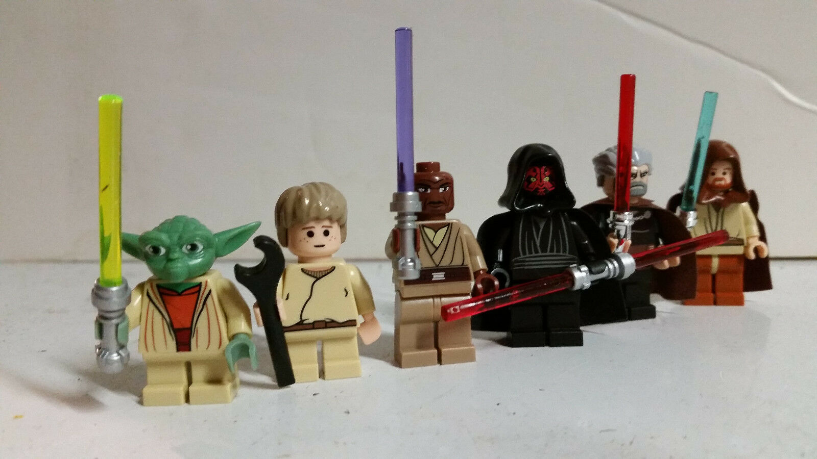 Lego Star Wars Minifigure GENUINE OFFICIAL Lot Darth Maul Mace Yoda SKYWALKER