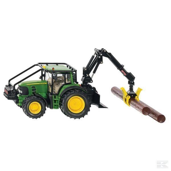 Siku John Deere 7530 Forestry Kids Tractor Toy 1 32 Scale Model