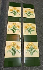 TUBE-LINED-EMBOSSED-FIREPLACE-TILES-FOR-VICTORIAN-CAST-IRON-INSERTS