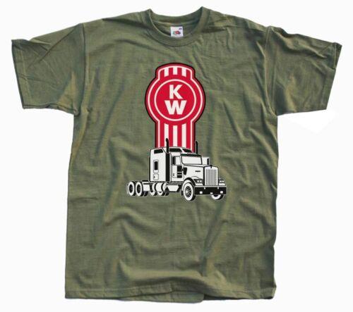 KENWORTH CAMION Logo T Shirt Noir Olive Blanc 100/% Coton Toutes Tailles S 5XL