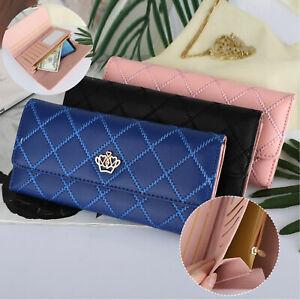Women-Fashion-Bifold-Wallet-Leather-Clutch-Card-Holder-Purse-Lady-Long-Handbag