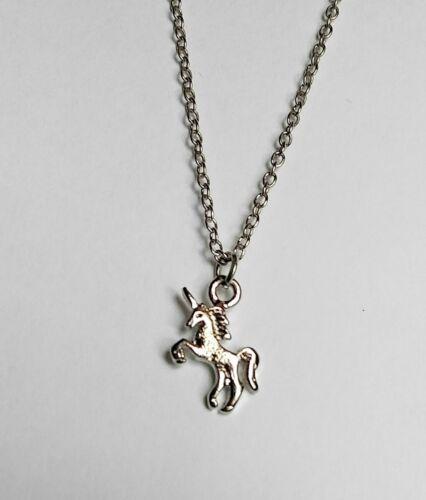Wholesale Lot of 20 pcs Silver Petite Unicorn Necklace for Unicorn Theme Parties