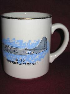Vtg B 29 Super Fortress Coffee Cup Mug Ww2 Aviation