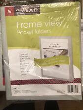 Smead Frame View Poly Two Pocket Folder 87706 Letter 850 X 11 5 Folders