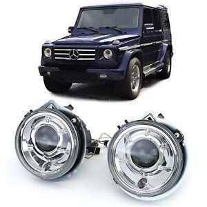Klarglas-Projektor-H7-Scheinwerfer-Facelift-Chrom-fuer-Mercedes-G-Klasse-W463