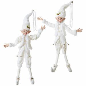 30 White Posable Elf Christmas Decorations 3902274 New Wow Raz Imports Ebay