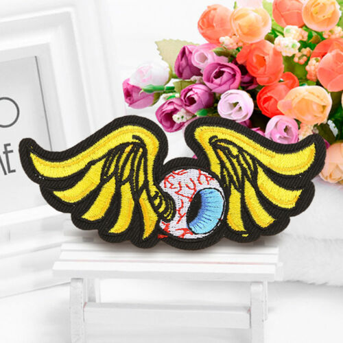 Angel Eyeball Wings Embroidered Sew On Iron On Patch Badge Fabric Craft Transfer