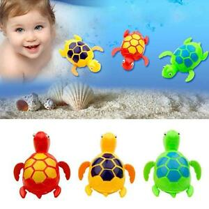 3 x Wind-up Cute Swimming Floating Turtle Toy Wind Up for Baby Kids Time Bathing