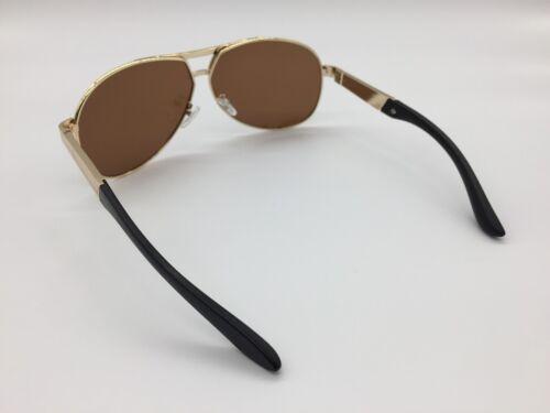 Men/'s 2019 Brown TAC Polarized Lenses Gold Metal Alloy Frame Sunglasses UV400