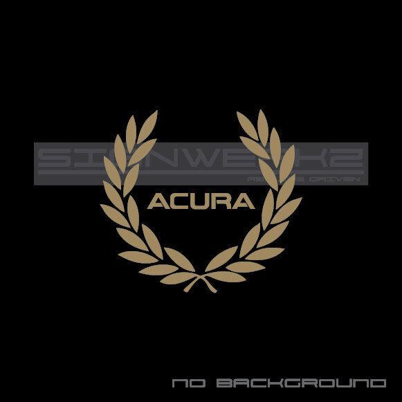 Acura Racing Wreath Decal Sticker Type S Vtec Tlx Rl Rdx