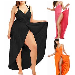 LADIES-WOMEN-PLAIN-BIKINI-BEACH-COVER-UP-SARONG-SKIRT-DRESS-WRAP-SWIMWEAR-KAFTAN