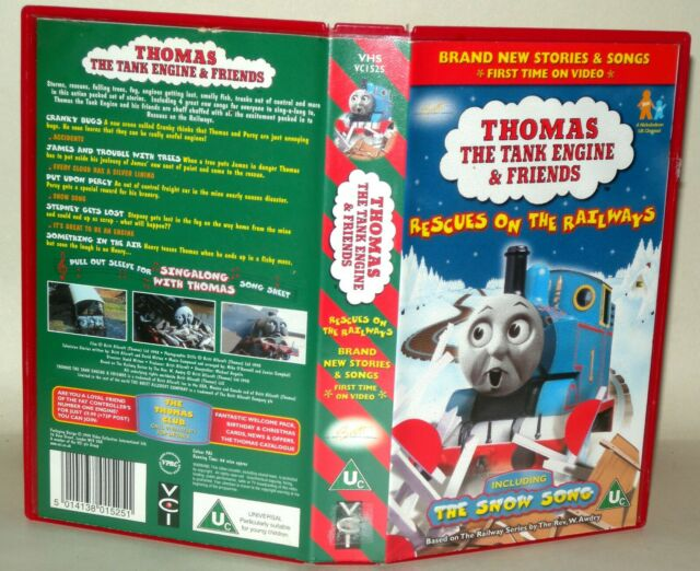 "Thomas The Tank Engine & Friends ""Rescues On The Railways"" Vhs Tape/Case. Uc"