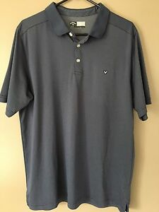 Men-039-s-Callaway-Short-Sleeve-Golf-Polo-Size-Large-Blue
