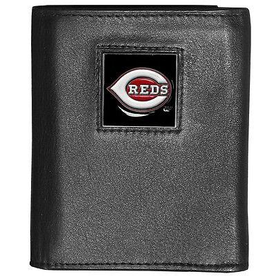 Fanartikel Cincinnati Reds Mlb Deluxe Dreifach Gefaltene Fein Gemustertes Leder Mit Dem Besten Service Sport
