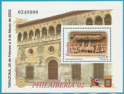 Rathaus Saragossa! Streng Spanien Aus 2002 ** Postfrisch Block 105 Minr.3726