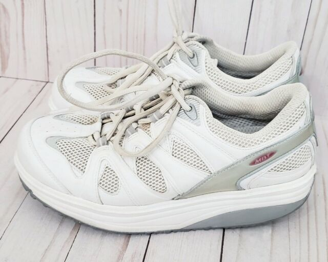 Women's MBT Sport 2 Walking Shoes White Size US 9 Wide Swiss Toning Anti Shoe