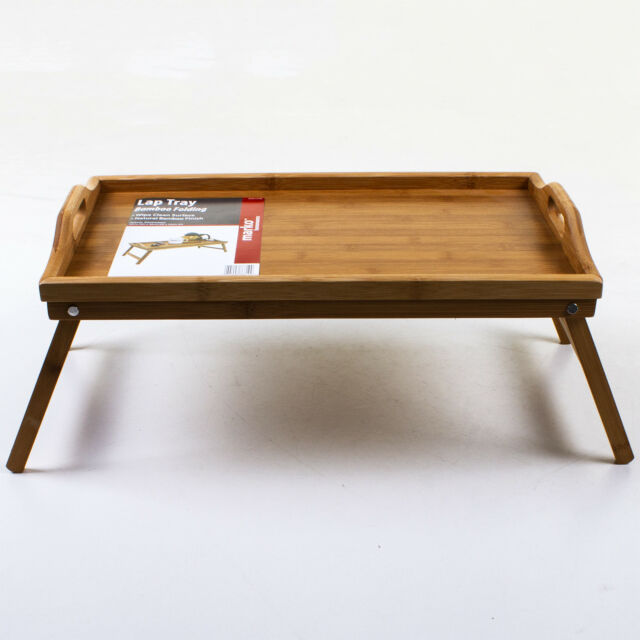 Lap Tray With Folding Legs Tv Dinner Food Meal Breakfast In Bed Table Serving